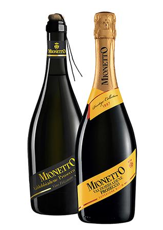 Bottiglie di Frizzante e Spumente Prosecco Docg di Mionetto