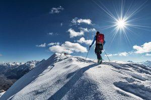 Foto sci-alpinista punta Chaligne Blogzine Cidac groscidac.eu/blog